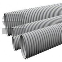 Труба ПВХ гофрированная легкая, с зондом диам. 25 мм (уп-ка 50м)