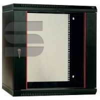 Шкаф телекоммуникационный настенный разборный 9U (600х650) дверь перфорированная, цвет черный