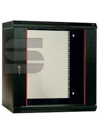 Шкаф телекоммуникационный настенный разборный 9U (600х650) дверь перфорированная, цвет черный купить с доставкой в Ростове-на-Дону - Смарт