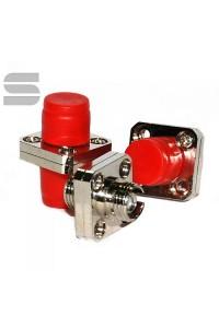 Адаптер NIKOMAX волоконно-оптический, соединительный, одномодовый, FC/UPC-FC/UPC, одинарный, латунный, тип D, металлик, уп-ка 2шт.