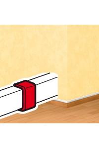 Накладка на стык - для мини-плинтусов DLPlus 40х12,5/40х16/40х20 - белый