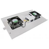 ITK Потолочная вентиляторная панель для шкафов LINEA W, 2 вентилятора, серая