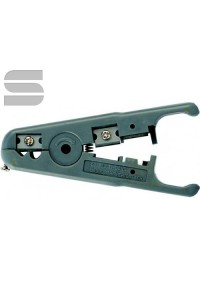 Инструмент NIKOMAX универсальный, для зачистки и обрезки плоских и круглых кабелей (до 9мм) с жилами из мягких металлов (не для стали), с регулировкой глубины надреза оболочки