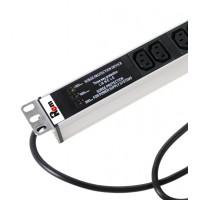 Вертикальный блок розеток Rem-16 с фил. и инд., 25 IEC 60320 C13, алюм., 42-48U, шнур 3 м