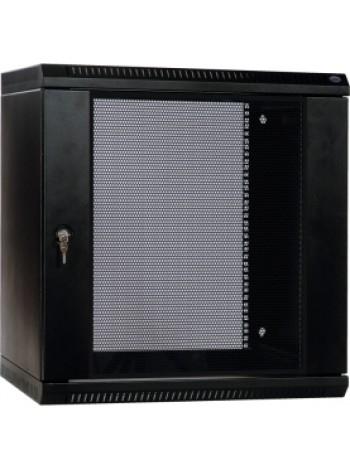Шкаф телекоммуникационный настенный разборный 9U (600х650) дверь стекло, цвет черный купить с доставкой в Ростове-на-Дону - Смарт
