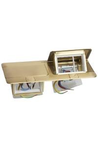 Выдвижной розеточный блок - неукомплектованный - IP 40 - 6 модулей - латунь