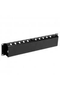 """ITK 19"""" металлический кабельный органайзер с крышкой, 2U, черный"""