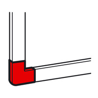 Плоский угол - для мини-каналов Metra - 20x12