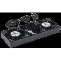 ITK Потолочная вентиляторная панель для шкафов LINEA W, 2 вентилятора, черная