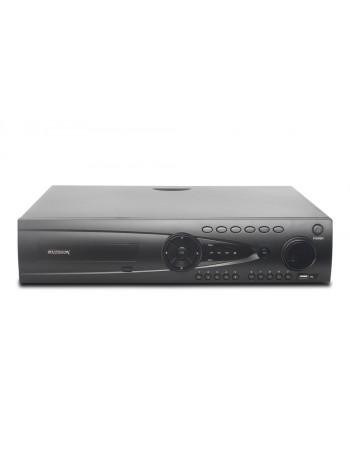 64-х канальный IP-видеорегистратор с поддержкой протокола ONVIF,Linux; H.264/H.265; Поддержка видеокамер 64x1080p;  Выходы - HDMI(4K), RCA; HDD - 8 SATA (до 10ТБ); Трев.вх./вых. - 16/4; Сеть - 1 Гб (RJ45); RS-485, RS-232; AC 220В (100Вт) купить с доставко