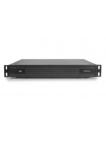 32-х канальный IP-видеорегистратор с поддержкой протокола ONVIF,Linux; H.264/H.265; Поддержка видеокамер 32x5M/16x3M/8x8М(4K); Воспр.одновр. - 4/2/1; Выходы - HDMI(4K), VGA, RCA; Аудиовыход: Трев.входы/выходы - 16/4; HDD - 4 SATA (до 10ТБ каждый); Сеть -