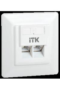 ITK Внутренняя инф. розетка RJ45 кат. 6 FTP 2 порта