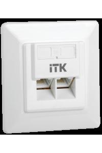 ITK Внутренняя инф. розетка RJ45 кат. 6 UTP 2 порта