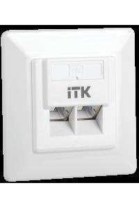 ITK Внутренняя инф. розетка RJ45 кат. 5Е FTP 2 порта