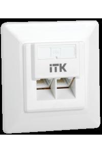 ITK Внутренняя инф. розетка RJ45 кат. 5Е UTP 2 порта