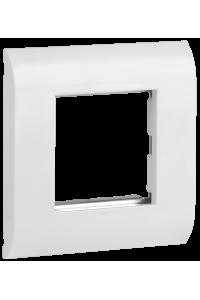 ITK Лицевая рамка для мод. Mosaic 80х80мм мет. суппорт бел.