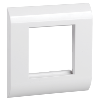 ITK Лицевая рамка для мод. Mosaic 80х80мм пл. суппорт бел.