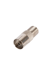 Адаптер NETLAN для коаксиальных кабелей, F-тип-PAL-female, металлик, уп-ка 100 шт.