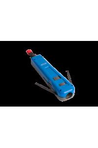 Инструмент NETLAN для заделки витой пары, ударного типа, 2 уровня регулировки силы удара, крепление Twist-Lock, нож 110/88 в комплекте