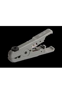 Инструмент NETLAN универсальный, для зачистки и обрезки плоских и круглых кабелей (до 9мм) с жилами из мягких металлов (не для стали), с колесом регулировки глубины надреза оболочки