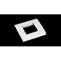 Настенная лицевая панель NETLAN под 1 вставку Mosaic, 45x45, с подрамником, белая, уп-ка 10 шт.