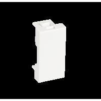 Вставка-заглушка NETLAN типа Mosaic 22,5x45мм, белая, уп-ка 10 шт.