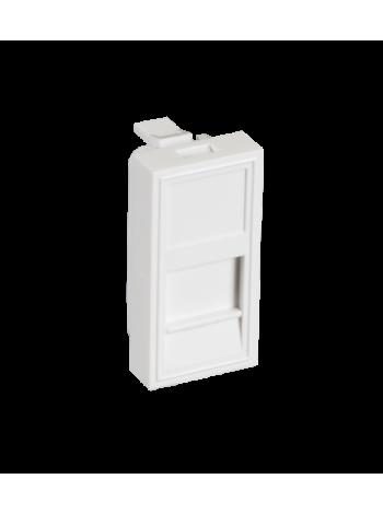 Вставка NETLAN типа Mosaic 22,5x45мм, 1 порт, под модули-вставки типа Keystone, со шторкой, белая, уп-ка 10 шт. купить с доставкой в Ростове-на-Дону - Смарт
