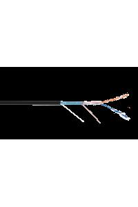 Кабель NETLAN F/UTP 2 пары, Кат.5 (Класс D), 100МГц, одножильный, BC (чистая медь), внешний, PE до -40C, черный, 305м