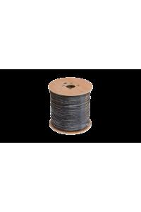 Кабель NETLAN F/UTP 4 пары, Кат.5e (Класс D), 100МГц, одножильный, BC (чистая медь), внешний, PE до -40C, с одножильным тросом, черный, 305м