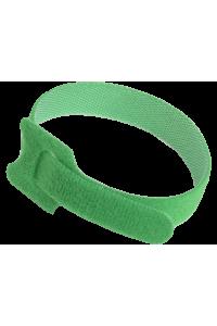 ITK Хомут-липучка для кабеля 14х310мм с м/з зеленый (100шт)