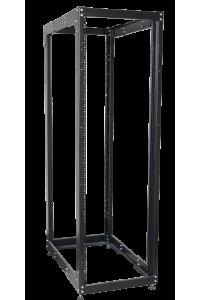 """ITK 19"""" двухрамная стойка, 24U, 600x800 мм, чёрная"""