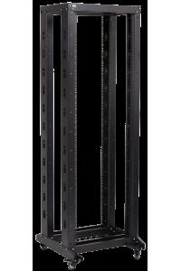"""ITK 19"""" двухрамная стойка, 37U, 600x600, на роликах, черная"""