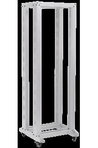 """ITK 19"""" двухрамная стойка, 37U, 600x600, на роликах, серая"""
