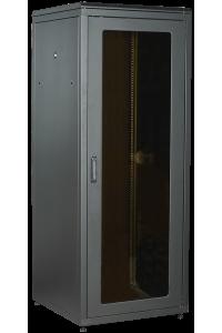 ITK LINEA N 18U 800х800мм стекл. пер. дв. задн. металл. чер.