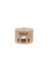 Кабель NIKOLAN F/FTP 4 пары, Кат.6 (Класс E), тест по ISO/IEC, 250МГц, одножильный, BC (чистая медь), 23AWG (0,57мм), внутренний, LSZH нг(А)-HFLTx, оранжевый, 100м - гарантия: 15 лет расширенная / 25 лет системная