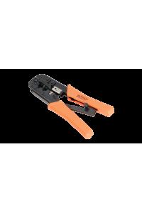 Инструмент NIKOMAX обжимной, 2 гнезда, с храповиком, совместим с коннекторами: RJ45/8P8C, RJ12/6P6C, RJ11/6P4C
