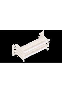 Настенный блок NIKOMAX 110 типа, 100 пар, с ногами и cъемной этикеткой, белый