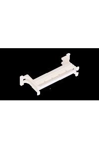 Настенный блок NIKOMAX 110 типа, 50 пар, с ногами и cъемной этикеткой, белый