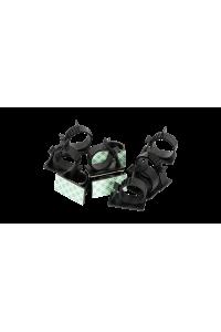 Основание NIKOMAX самоклеящееся с фиксатором-защелкой для пучка до 13мм, размер 37х7,5мм, черное, уп-ка 100шт.
