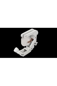 Корпус розетки NIKOMAX с креплением под DIN-рейку, под модули-вставки Keystone, 1 порт, 2 боковые крышки, откидной, серый