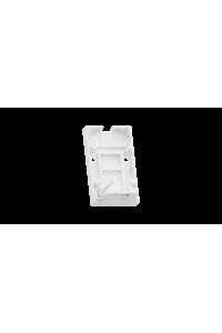 Корпус настенной розетки NIKOMAX, 1 порт, под модули-вставки типа Keystone, со шторкой, белый