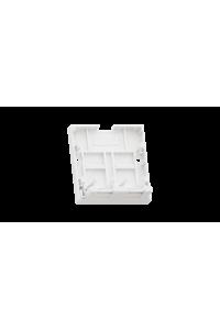 Корпус настенной розетки NIKOMAX, 2 порта, под модули-вставки типа Keystone, со шторками, белый