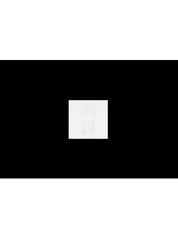 Вставка NIKOMAX, британский формат, 50x50мм, 1 порт, под модули Keystone, со шторкой, белая купить с доставкой в Ростове-на-Дону - Смарт