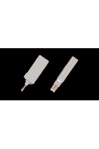 Клипса заземления NIKOMAX, используется с модулями или магазином защиты при установке плинтов на круглые направляющие (на 1 плинт требуется 2шт.), уп-ка 10шт.