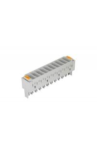 Магазин защиты плинтов по напряжению NIKOMAX, на 10 пар, используется с трехконтактными разрядниками, серый, уп-ка 10шт.
