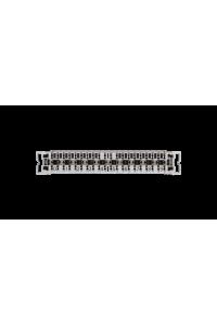 Плинт NIKOMAX 10 пар, Кат.3 (Класс C), 16МГц, контакты типа KRONE, неразмыкаемый, маркировка 0...9, крепление под кронштейн, серый, уп-ка 10шт.