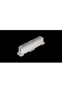 Плинт NIKOMAX 10 пар, Кат.3 (Класс C), 16МГц, контакты типа KRONE, неразмыкаемый, маркировка 0...9, крепление под кронштейн и круглые направляющие, серый, уп-ка 10шт.