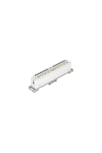 Плинт NIKOMAX 10 пар, Кат.3 (Класс C), 16МГц, контакты типа KRONE, размыкаемый, маркировка 0...9, крепление под кронштейн, белый, уп-ка 10шт.
