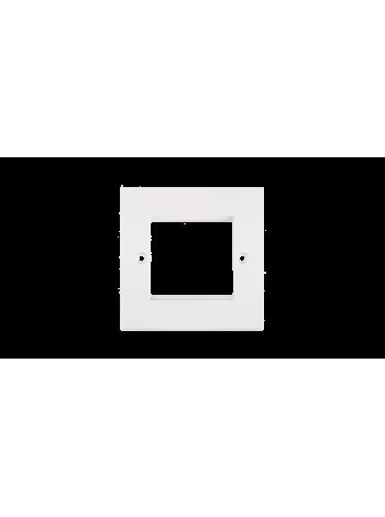 Лицевая панель NIKOMAX под 1 вставку 50х50мм, британского формата, белая купить с доставкой в Ростове-на-Дону - Смарт