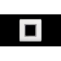 Лицевая панель NIKOMAX, французский формат Mosaic, под 1 вставку 45х45мм, с подрамником, белая